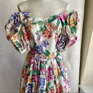 VTG AS-IS Princess Flowers Halloween Costume Dress